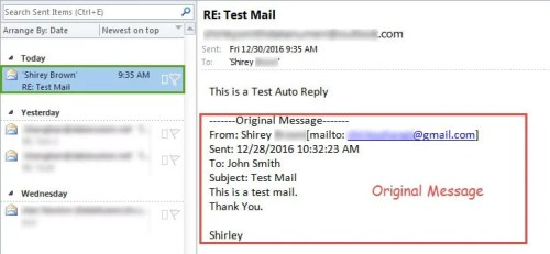 Auto Reply with the Original Email and a Predefined Text