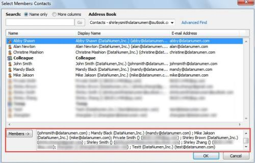 how to automatically add to contact list in outlook
