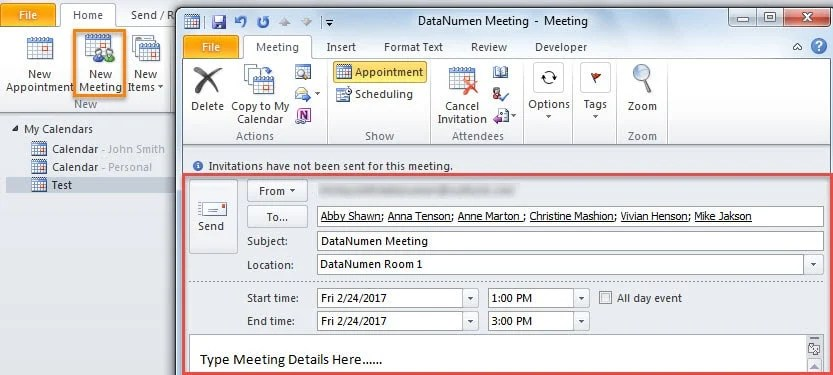 2 Methods to Delay Sending a Meeting Invitation in Outlook Data