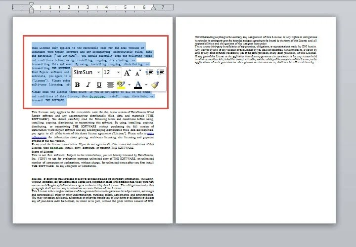 Zoom out a Document to Percentage until You Can View Multiple Pages
