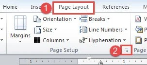 """Click """"Page Layout""""->Click the Extend Button"""