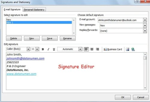 Signature Editor