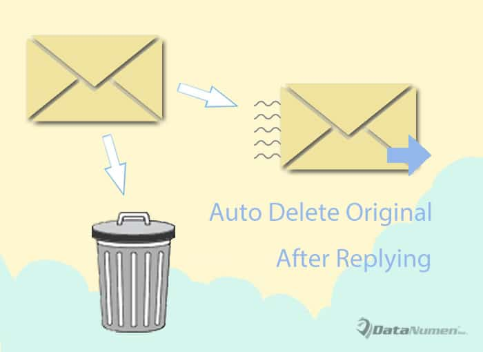 Auto Delete the Original Email After Replying It