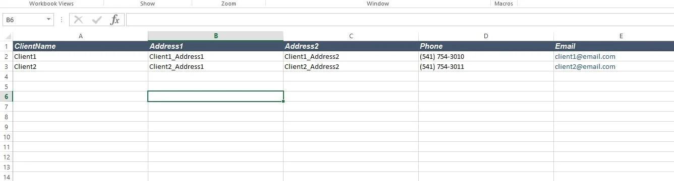 excel invoice generator