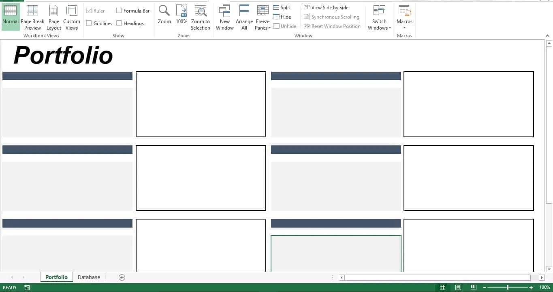 Prepare The Sheet Portfolio
