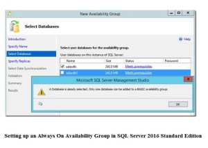 Set Up An Always On Availability Group In SQL Server 2016 Standard Edition
