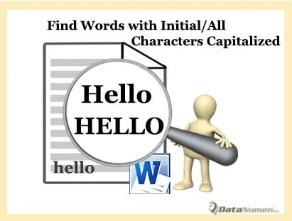 Find All Words with Initial or All Letters Capitalized
