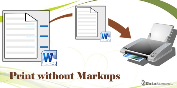 Print Your Word Document without Markups