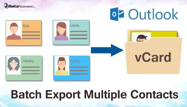 2 Methods to Batch Export Multiple Outlook Contacts as vCard Files