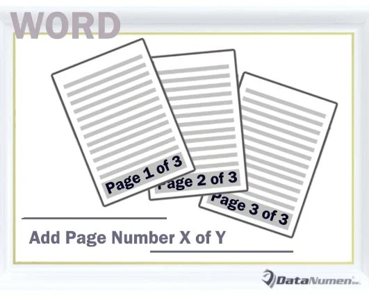 Add Page Number X of Y to Your Word Document