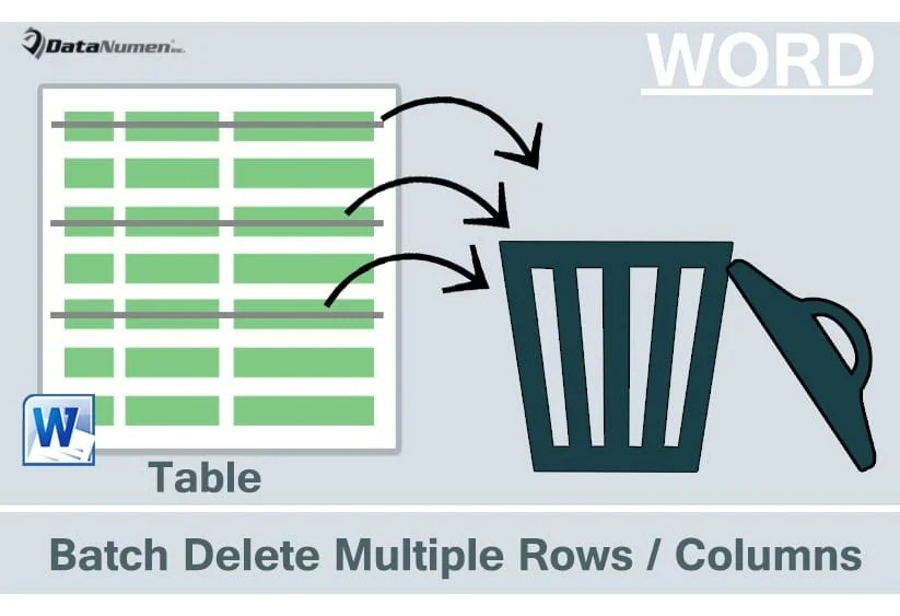 Batch Delete Multiple Rows or Columns in Your Word Table