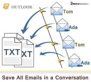Batch Export All Emails in a Conversation as Text Files via Outlook VBA
