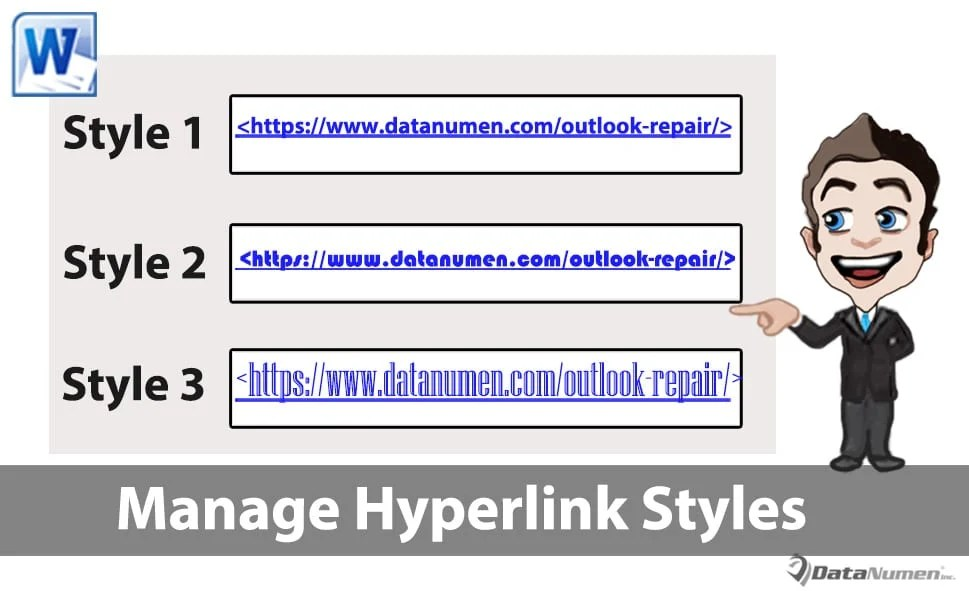 Manage Hyperlink Styles in Your Word Document