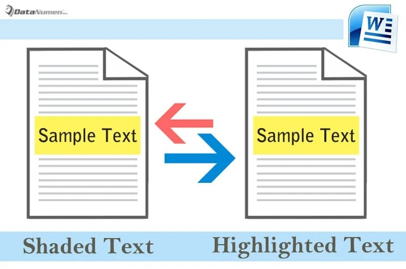 Convert Texts from Shaded to Highlighted and Vice Versa