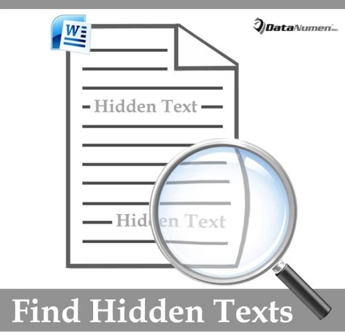 Find Hidden Texts in Your Word Document
