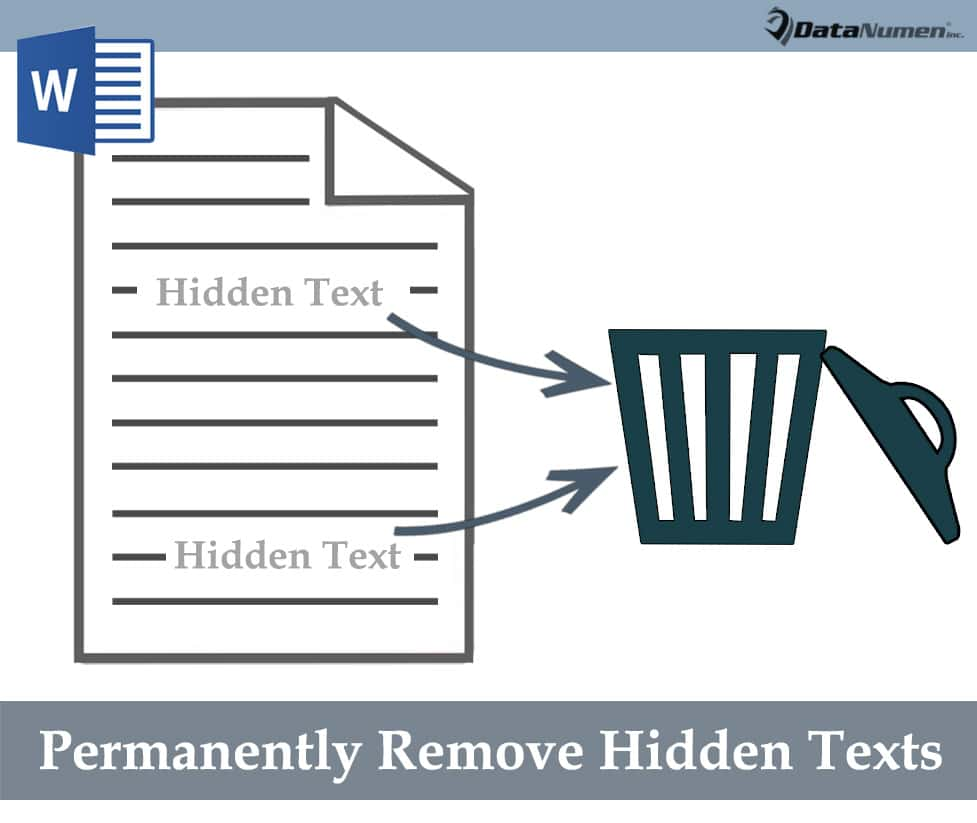 Permanently Remove Hidden Texts in Your Word Document