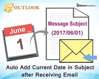 Auto Insert Current Date into the Subjects of Incoming Emails with Outlook VBA