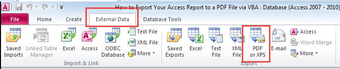 How to Export Your Access Report to a PDF File via VBA - Data