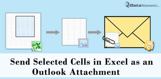 Quickly Add Selected Cells in Excel Worksheet as an Image Attachment to Your Outlook Email