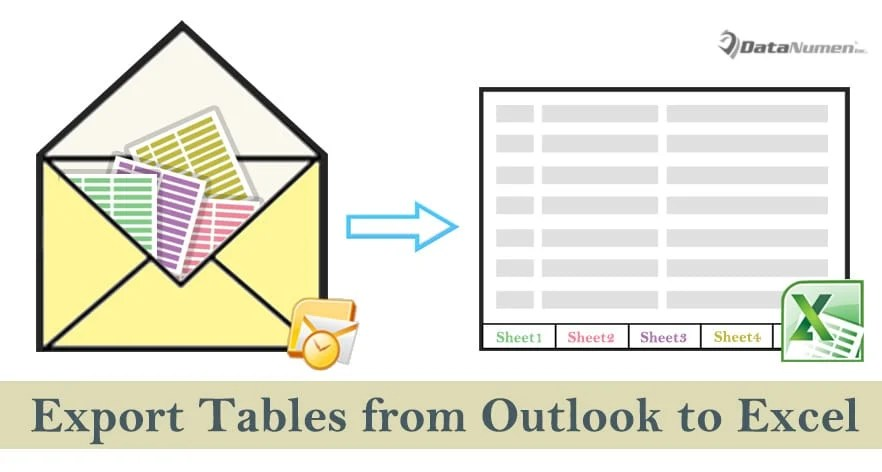 How to Quickly Export All Tables from an Outlook Email to an