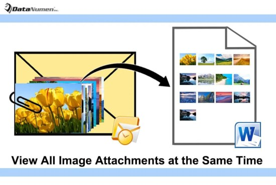View All Image Attachments of an Outlook Email at the Same Time