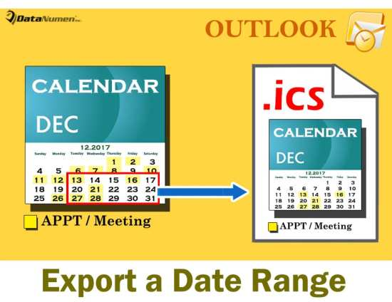 2 Methods to Export a Specific Date Range of Your Outlook Calendar as an iCalendar (.ics) File