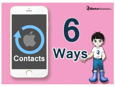 how to put contacts back on iphone from itunes