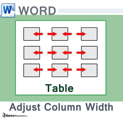 how to set table column width