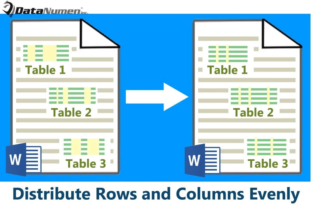 4 Effective Ways to Distribute Rows and Columns Evenly in Your Word