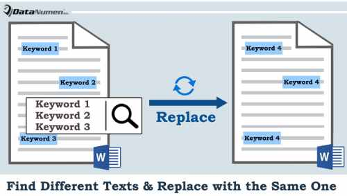 How to Find Different Texts and Replace with the Same One ...