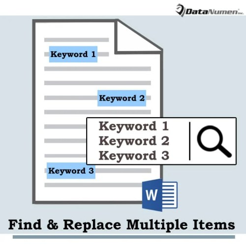 Find and Replace Multiple Items in Your Word Document