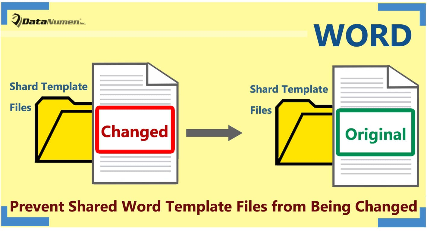 Prevent Shared Word Template Files from Being Changed