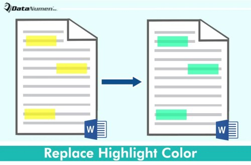 Replace Highlight Color in Your Word Document