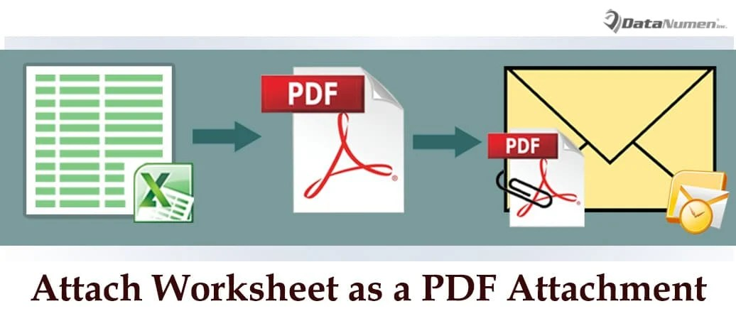 How To Attach An Excel Worksheet As A Attachment In