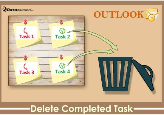 Auto Delete an Outlook Task after Marking It Complete