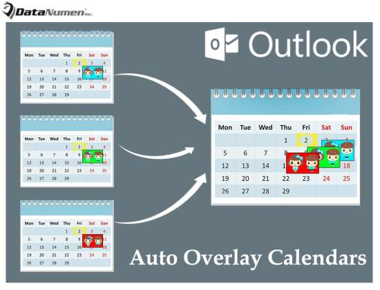 Auto Overlay Specific Calendars When Switching to Outlook Calendar Area