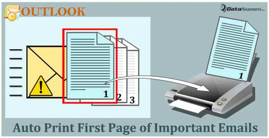 Auto Print the First Page of Important Incoming Emails in Your Outlook