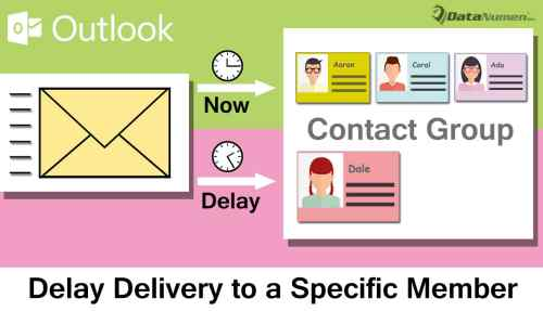 Delay the Delivery to a Specific Member when Sending an Outlook Email to a Contact Group