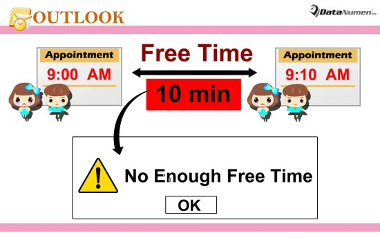 Get Warned If There Is Not Enough Time between Outlook Appointments