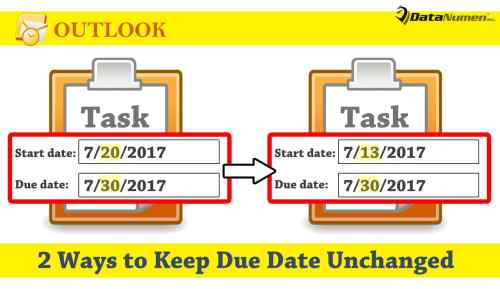 Keep a Task's Due Date Unchanged when Changing Its Start Date in Outlook