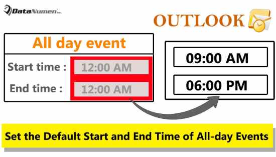 Set the Default Start and End Time of All-day Events Based on Your Working Hours in Outlook