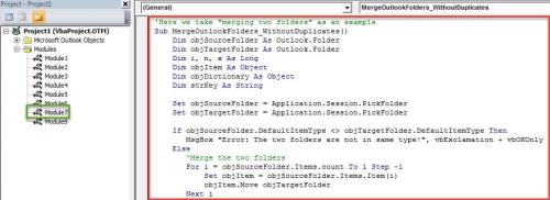 VBA Code - Merge Items from Multiple Folders without Duplicates