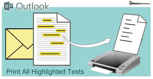 Quickly Print All Highlighted Texts in Your Outlook Email