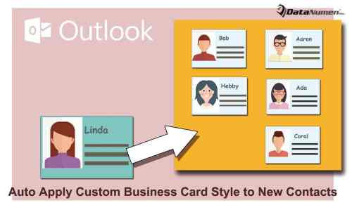 Auto Apply a Custom Business Card Style to New Contacts
