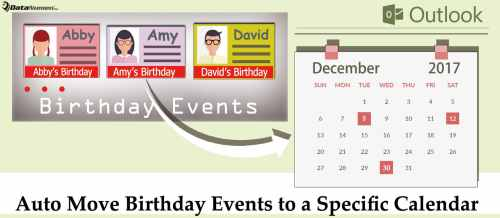 Birthday Calendar In Outlook : How to auto move birthday events a specific calendar in