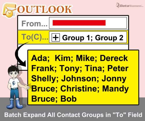 "Batch Expand All Contact Groups in ""To"" Field when Composing an Outlook Email"