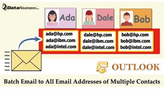 Batch Send an Email to All Email Addresses of Multiple Contacts