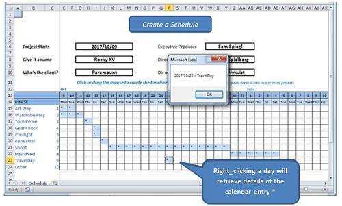 how to create a schedule on excel