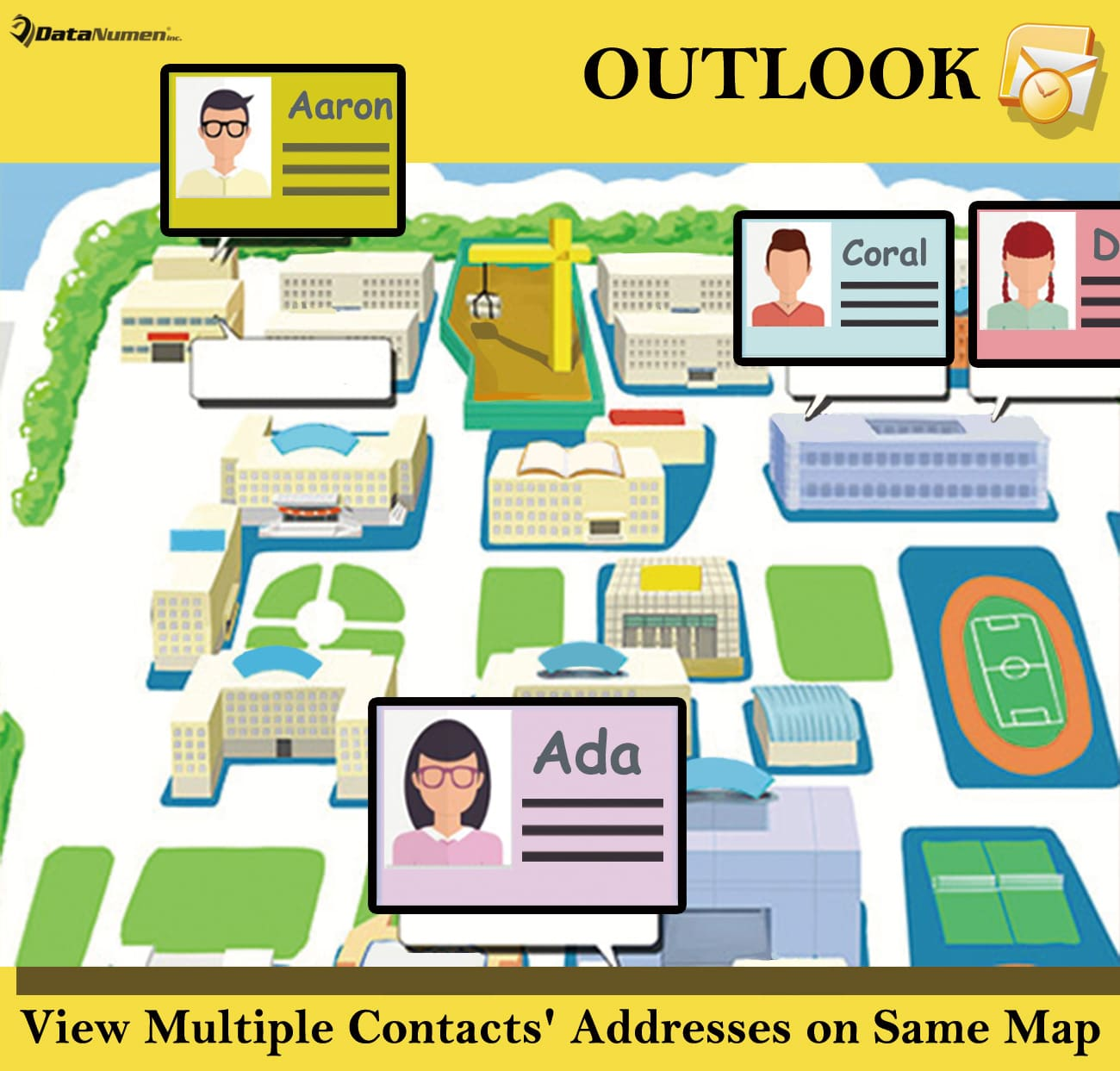 How to Quickly View Multiple Contacts' Addresses on the Same