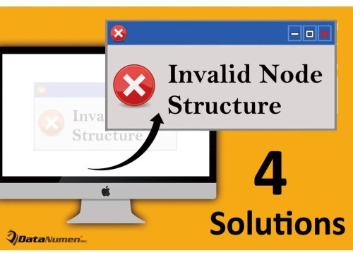 "4 Solutions to ""Invalid Node Structure"" Error on Mac System"